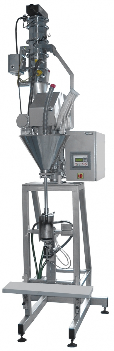 Полуавтоматическое оборудование для дозирования тонера порошка в банки