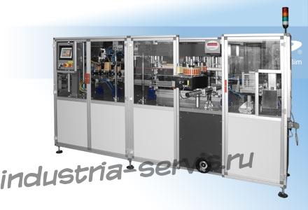 Автоматическая упаковочная линия PL1bb (Чехия) для фасовки сыпучих гранулированных продуктов в готовые пакеты с плоским дном