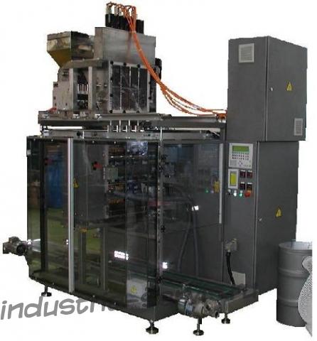 Автоматическое оборудование для фасовки продуктов в четырехшовные пакеты типа сашэ