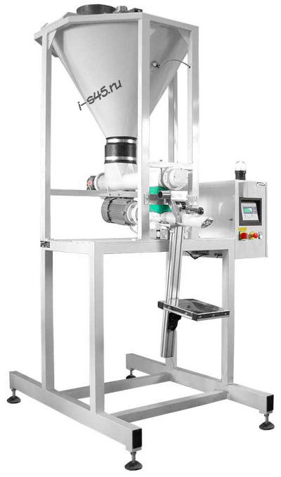 PES7p – полуавтомат для фасовки тонкодисперсных пылящих продуктов в клапанные бумажные мешки