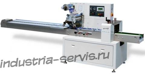 Горизонтальный упаковочный автомат АH-450 для упаковки штучных продуктов в пленку (flow pack)