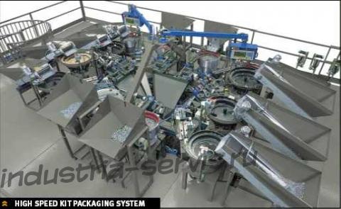 Высокоскоростная система по составлению и упаковке комплектов мебельной фурнитуры